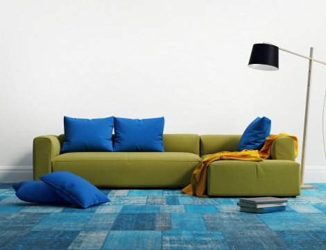 3d rendering of a contemporary elegant luxury lime sofa