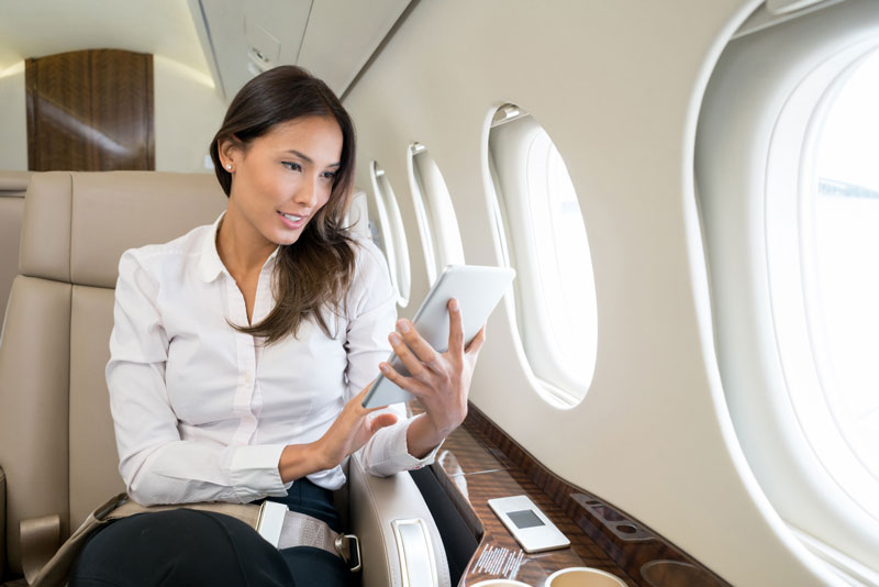 woman-in-private-jet